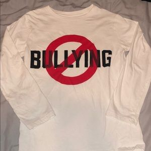 🚫NO BULLYING🚫 Boys Long Sleeve Tee